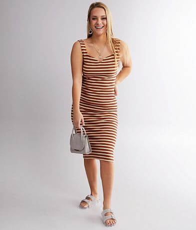 Billabong Night Magic Striped Midi Dress