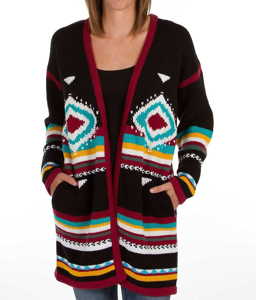 Billabong Anabelle Flyaway Cardigan Sweater front view