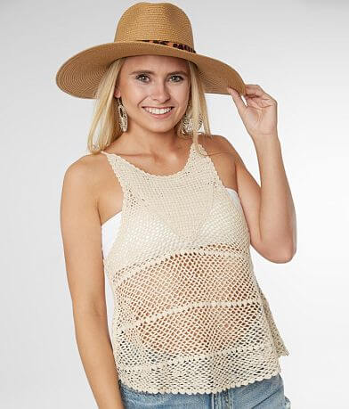 Billabong Vacay Nites Crochet Tank Top