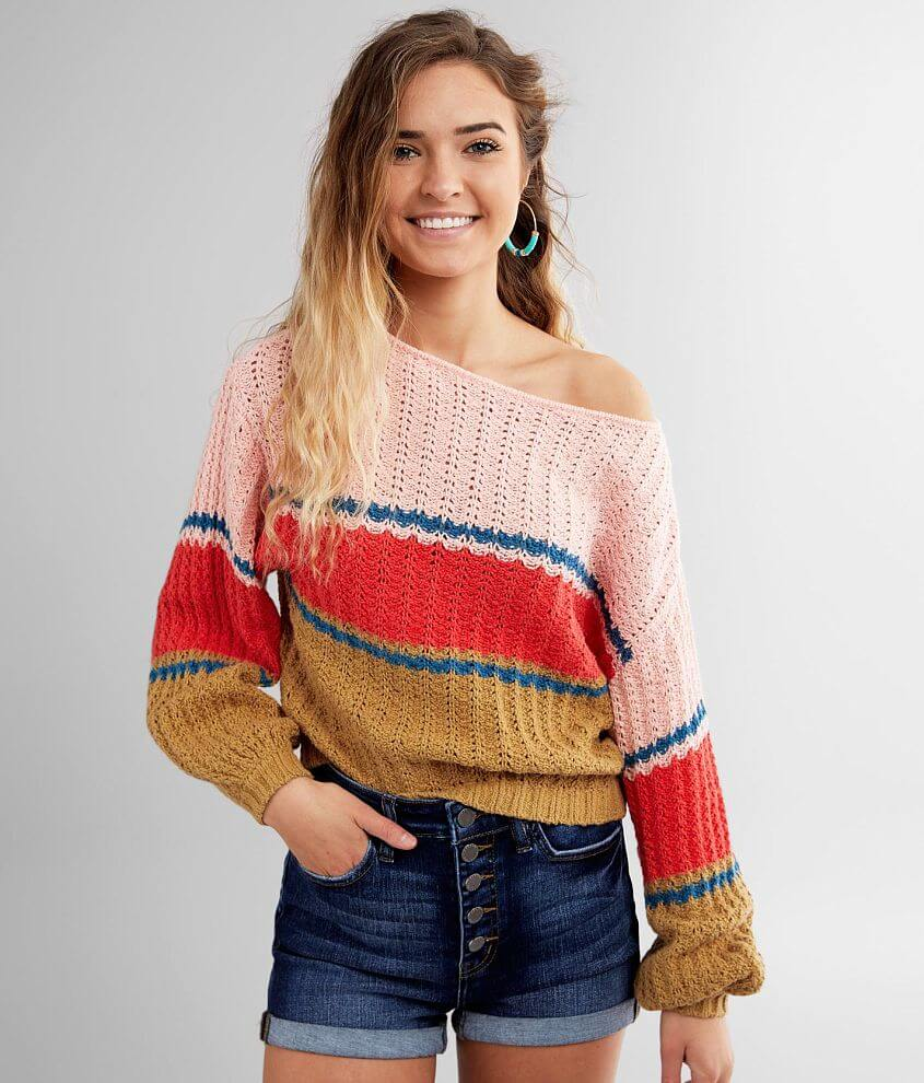 Billabong Washed Out Cropped Sweater front view