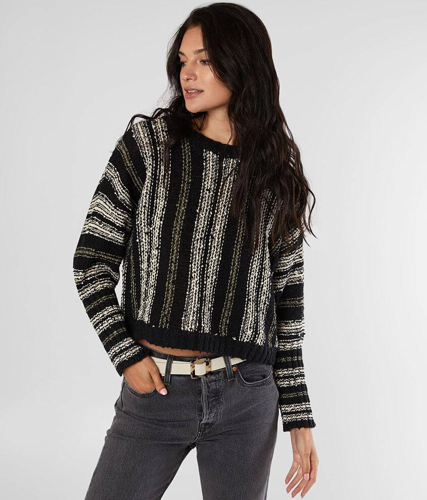 Billabong Easy Going Cropped Sweater front view