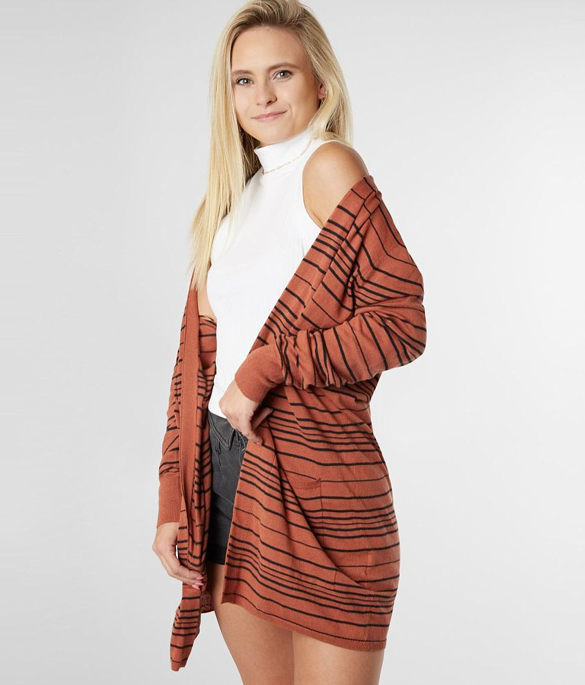 Billabong Worth It Cardigan Sweater front view