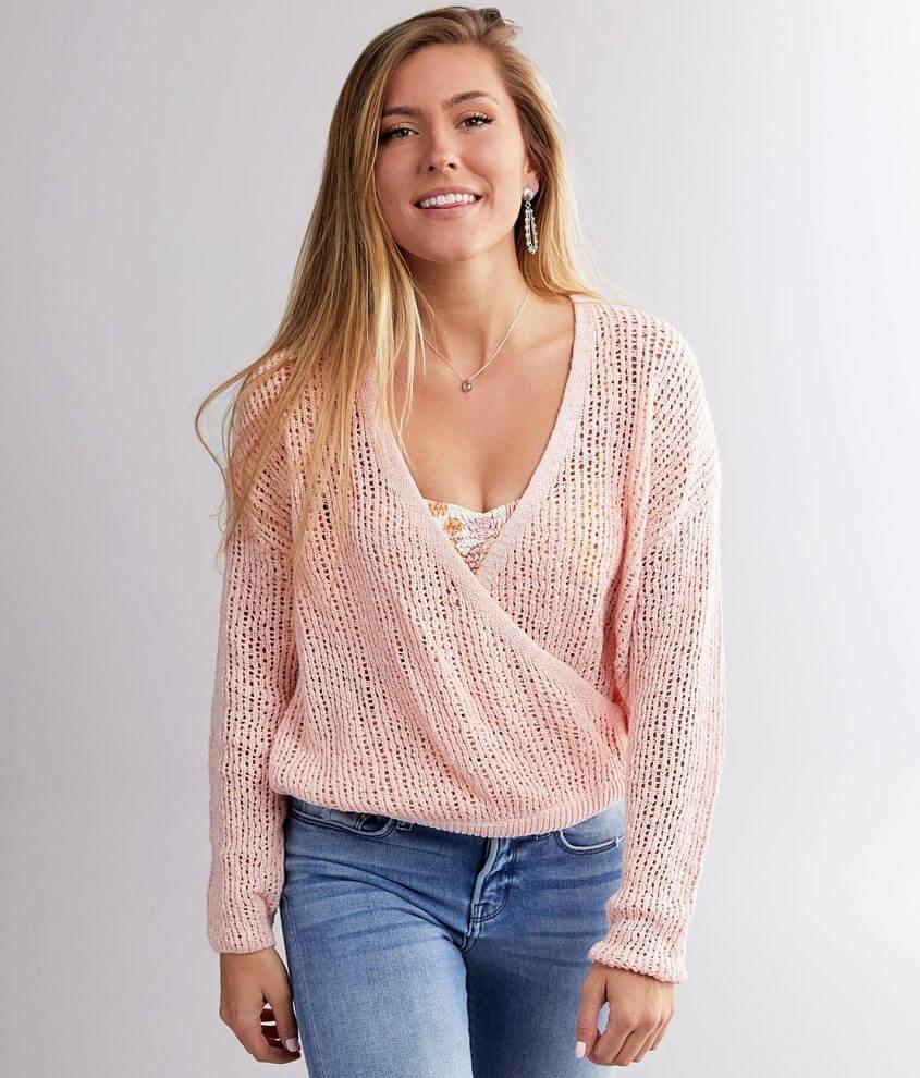Billabong Sweet Bliss Surplice Sweater front view