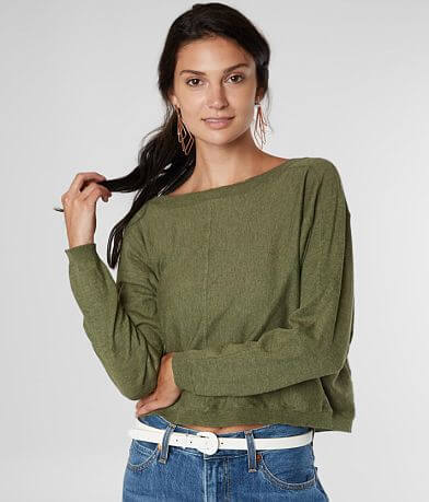 Billabong No Regrets Wide Neck Cropped Sweater
