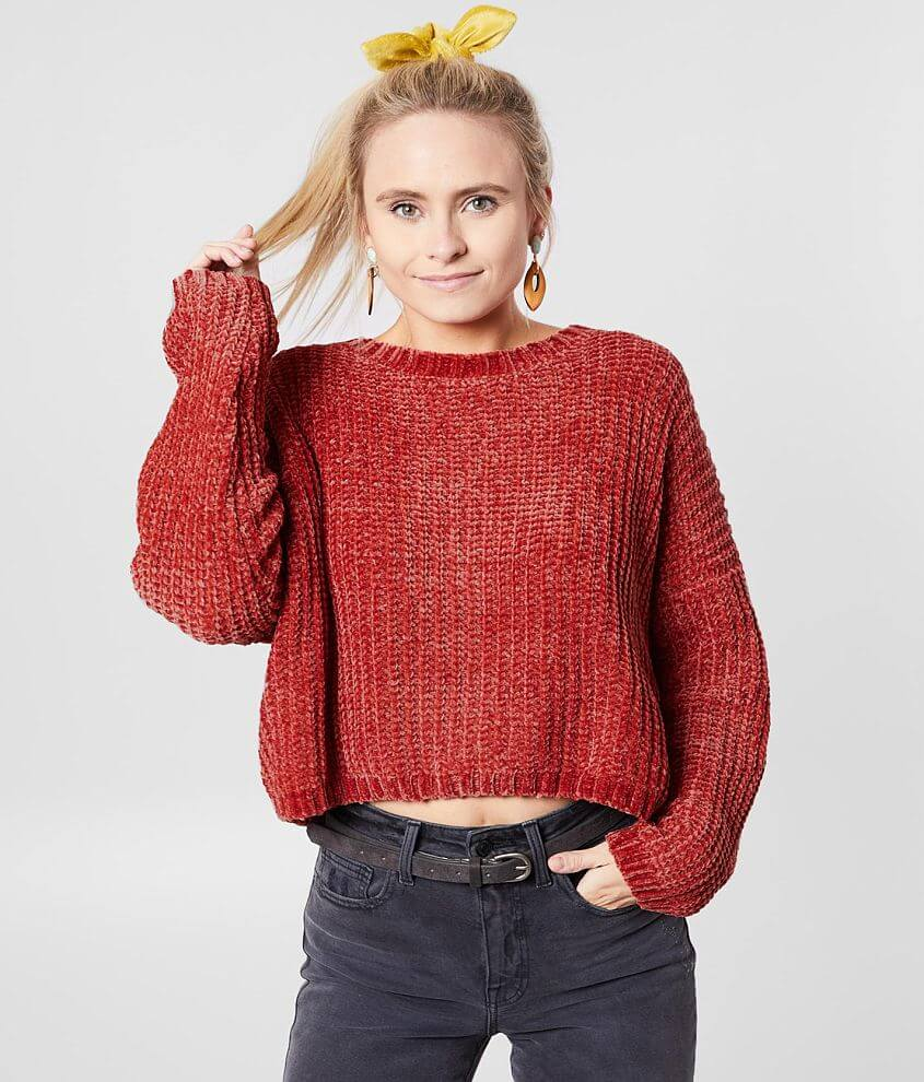 Billabong Cosmic Dream Cropped Sweater front view