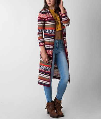 Billabong Shadow Stripe Duster Cardigan Sweater