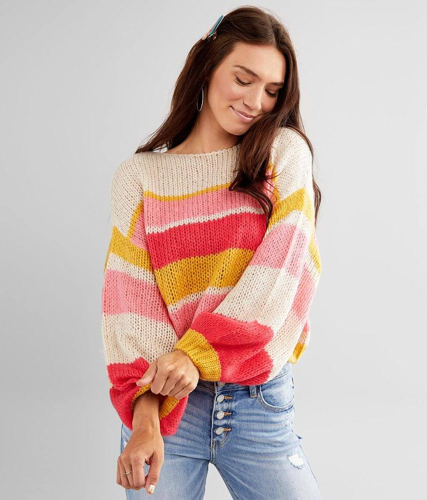 Billabong Soft Wind Striped Sweater front view