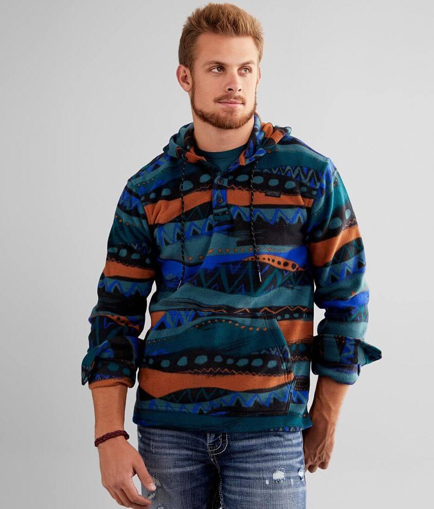 Billabong Furnace Fleece Hooded Henley Sweatshirt front view
