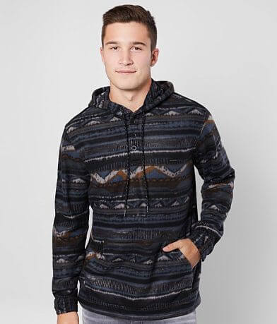 Billabong Furnace Anorak Hooded Henley Sweatshirt