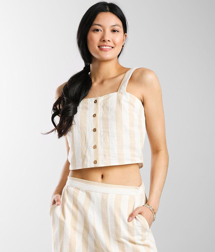 Billabong East Side Cropped Tank Top front view