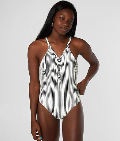 Billabong Long Ride Striped Swimsuit