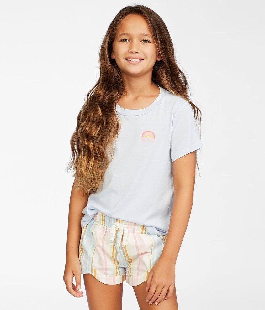 Girls - Billabong Mad For You Striped Short front view