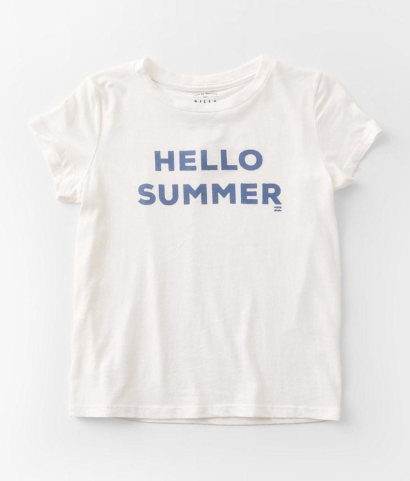 Girls - Billabong Hello Summer T-Shirt front view