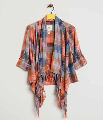 Girls - Billabong Plaid Cardigan