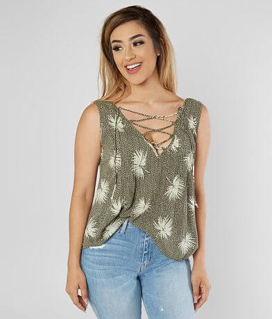Billabong Illusions Of Lace-Up Tank Top