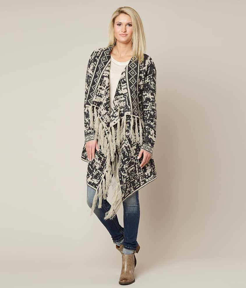 Love by Design Patterned Cardigan - Women's Cardigans in Charcoal ...