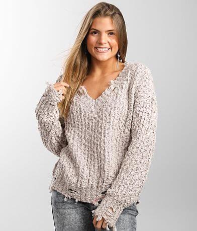 Love by Design Destructed Slub Yarn Sweater