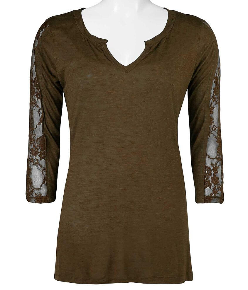 BKE 3/4 Sleeve Top front view