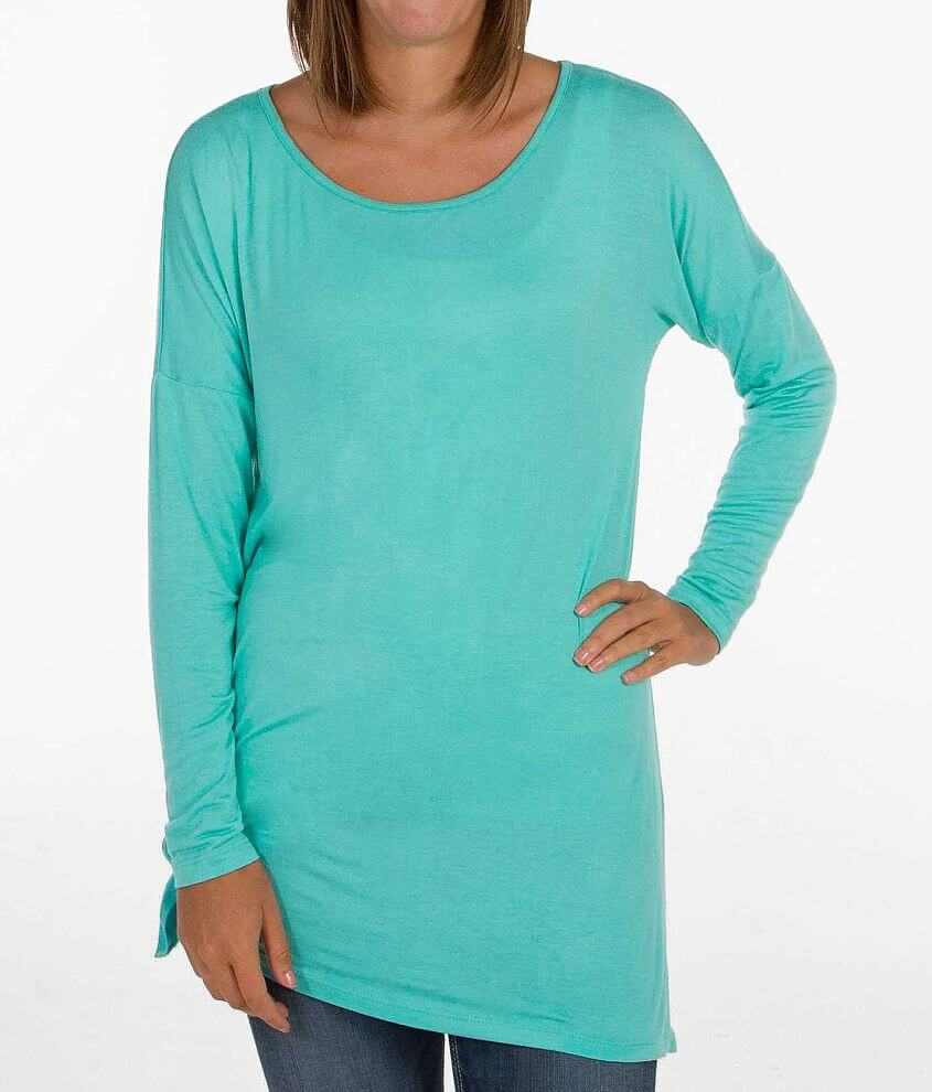 BKE red Solid Tunic Top front view