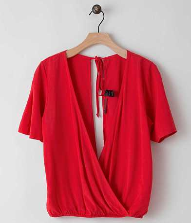 red by BKE Surplice Top