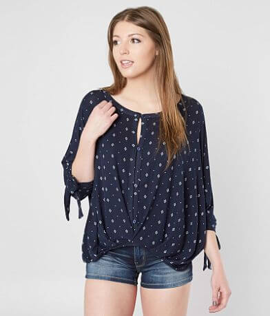Daytrip Printed Dolman Top