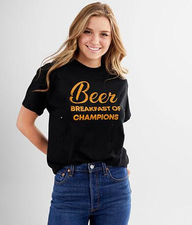 Modish Rebel Beer Breakfast Of Champs T-Shirt