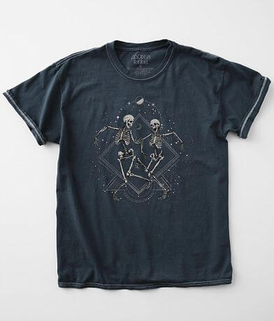 Modish Rebel Dancing Celestial Skeletons T-Shirt