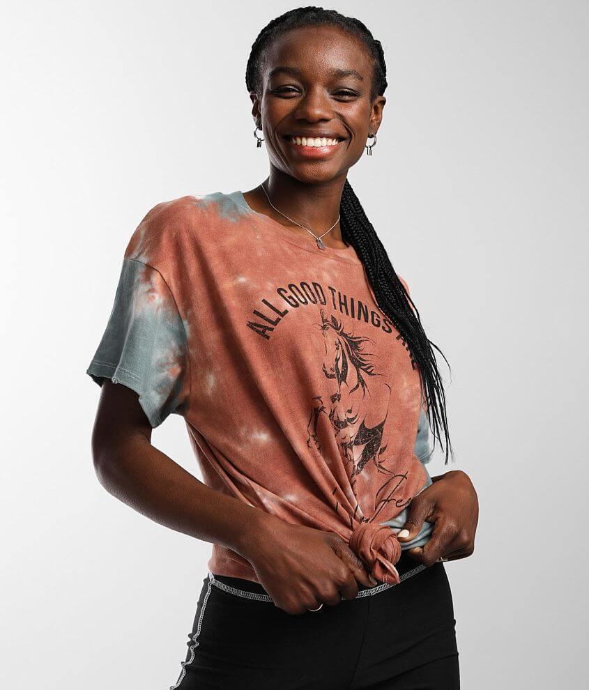 Modish Rebel Wild & Free T-Shirt front view