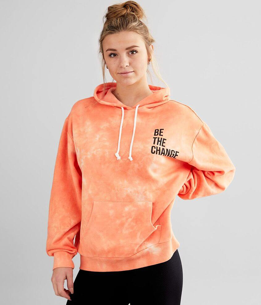 Modish Rebel Be The Change Hooded Sweatshirt front view