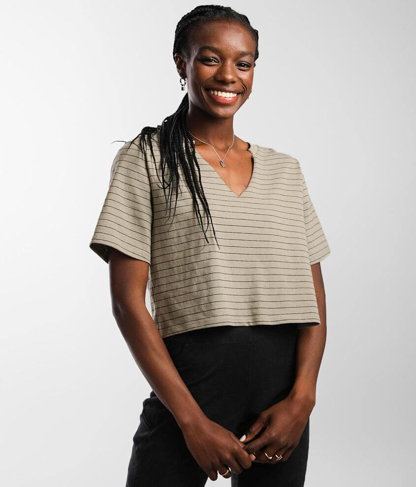 FITZ + EDDI Striped T-Shirt front view