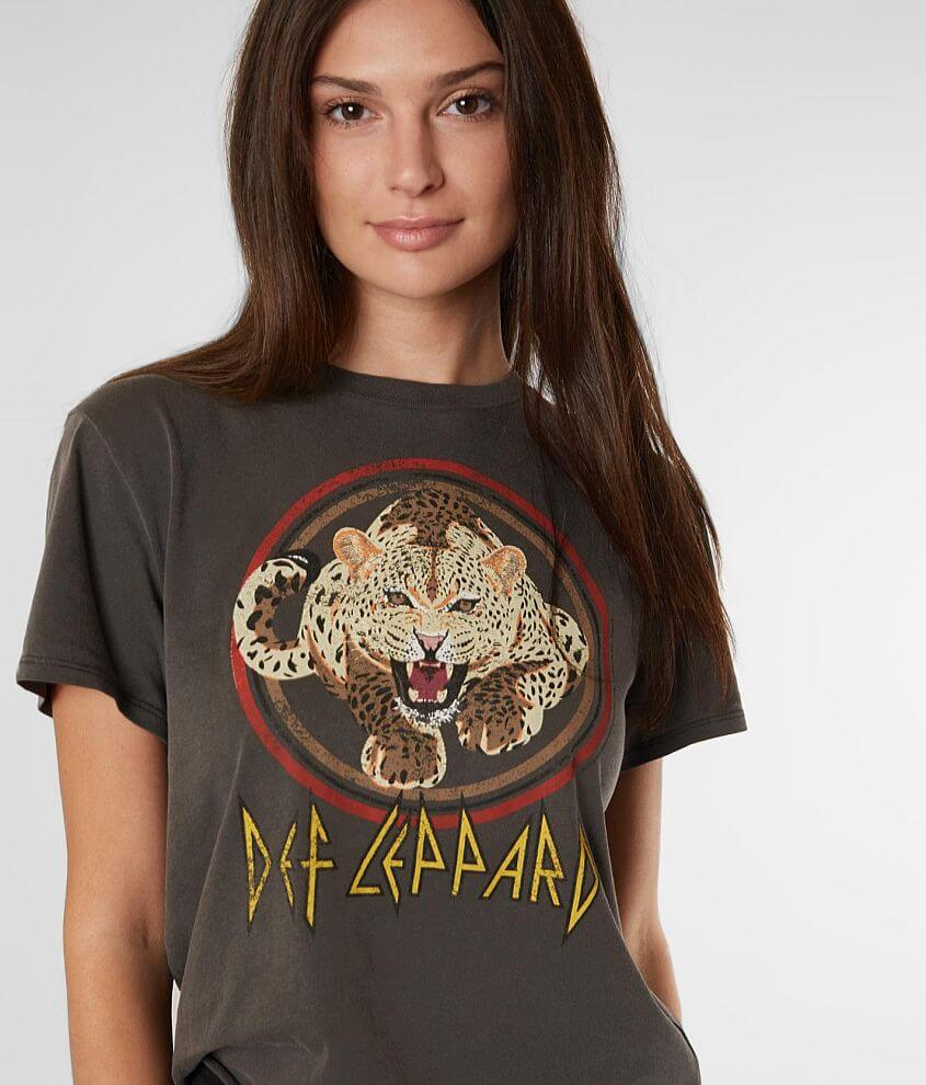 7c45f372a The Vinyl Icons Def Leppard Band T-Shirt - Women's T-Shirts in Washed Black  | Buckle