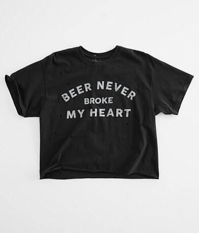Modish Rebel Broken Heart Cropped T-Shirt