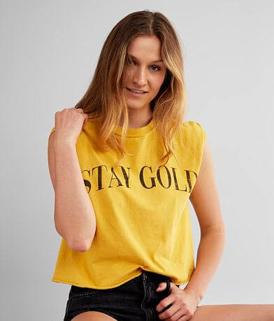 Modish Rebel Stay Gold Cropped T-Shirt