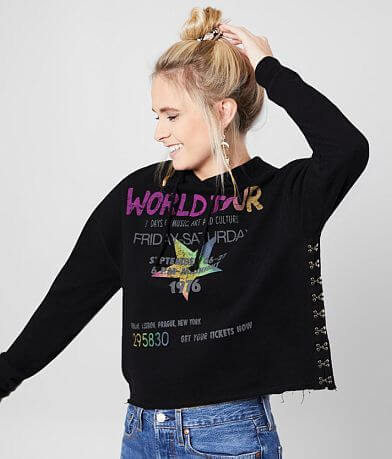 The Vinyl Icons World Tour Cropped Hoodie