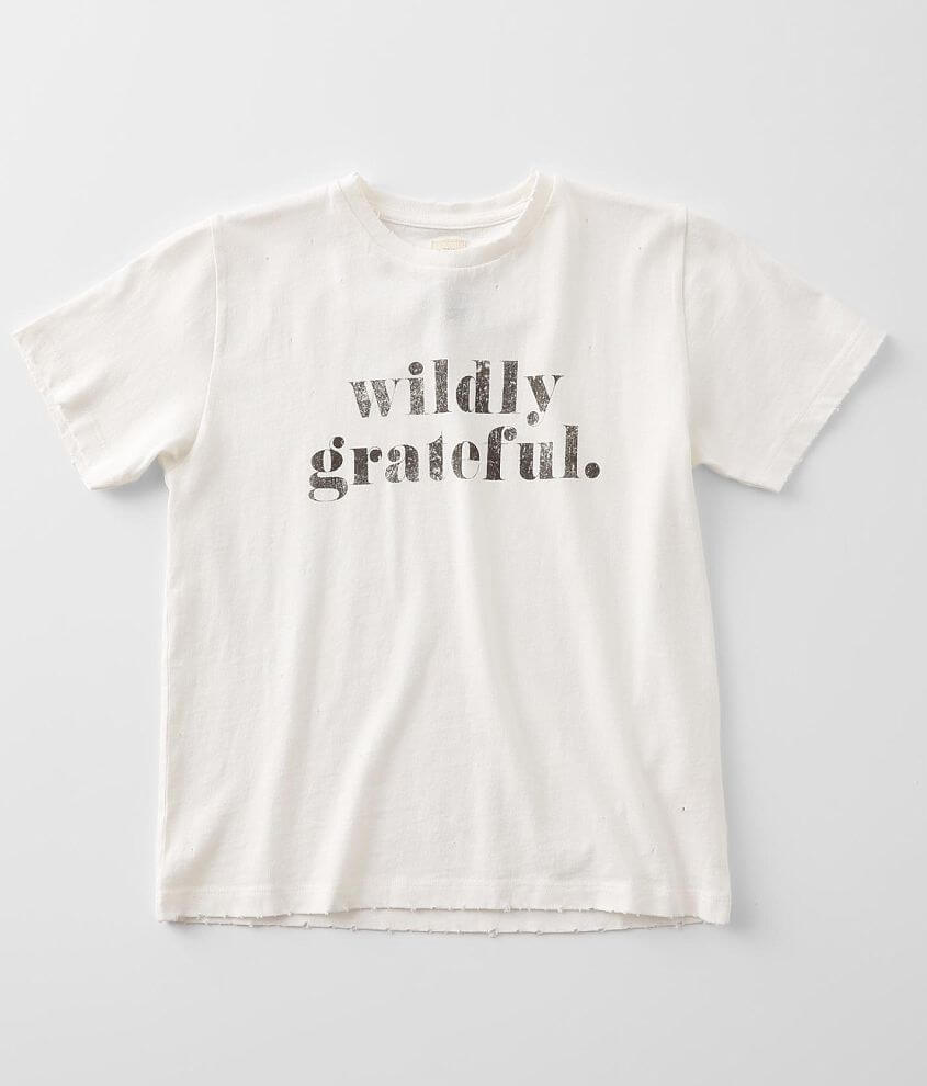 Girls - Modish Rebel Wildly Grateful T-Shirt front view