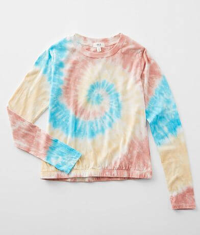 Girls - BKE Tie Dye Crew Neck T-Shirt