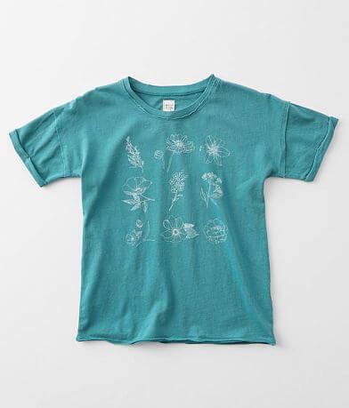 Girls - Modish Rebel Wildflower Sketch T-Shirt