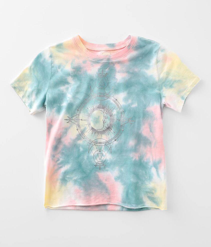Girls - Modish Rebel Celestial Tie Dye T-Shirt front view