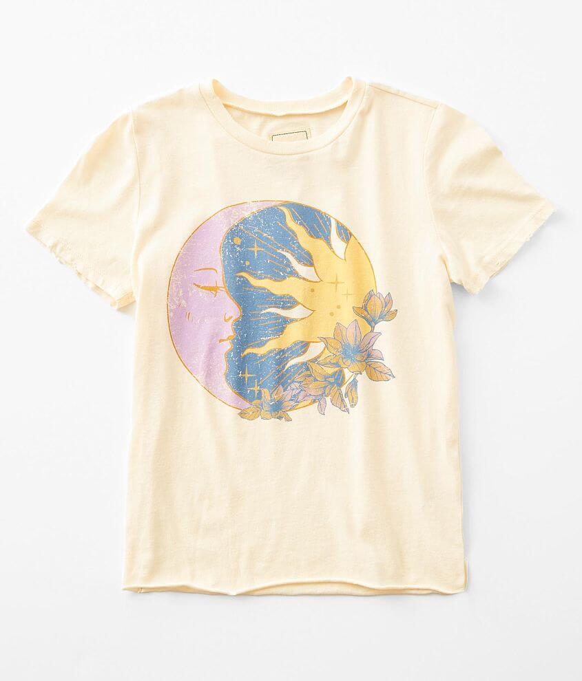 Girls - Modish Rebel Moon & Sun T-Shirt front view