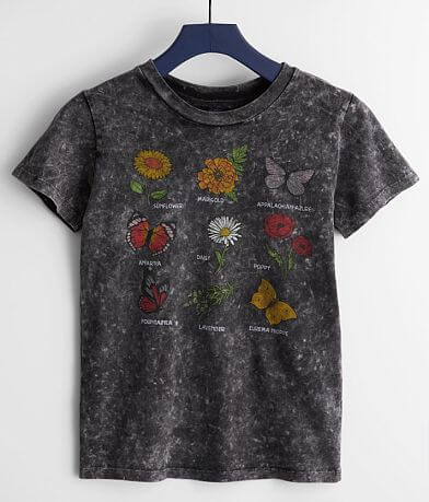 Girls - Daytrip Floral Butterfly T-Shirt