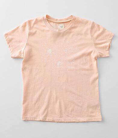 Girls - Modish Rebel Blooming Flowers T-Shirt