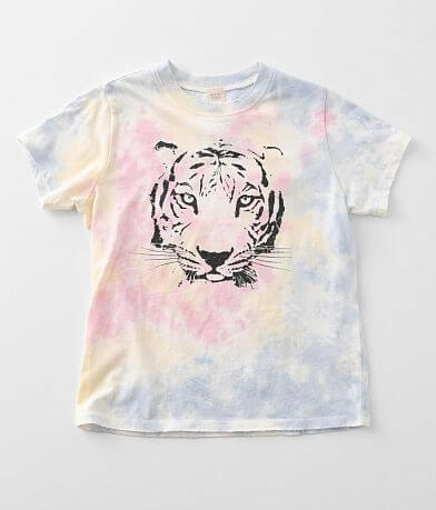 Girls - Modish Rebel Tie Dye Tiger T-Shirt