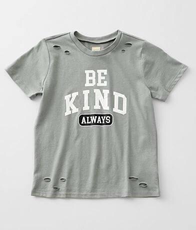 Girls - Modish Rebel Be Kind Always T-Shirt