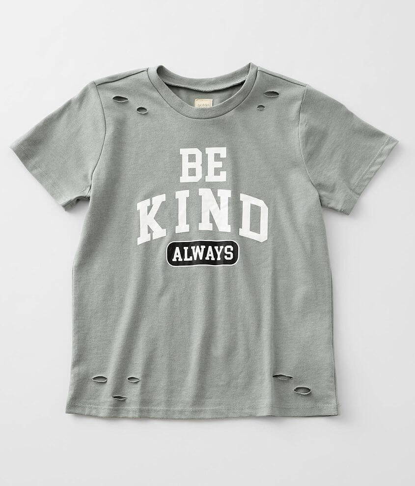 Girls - Modish Rebel Be Kind Always T-Shirt front view