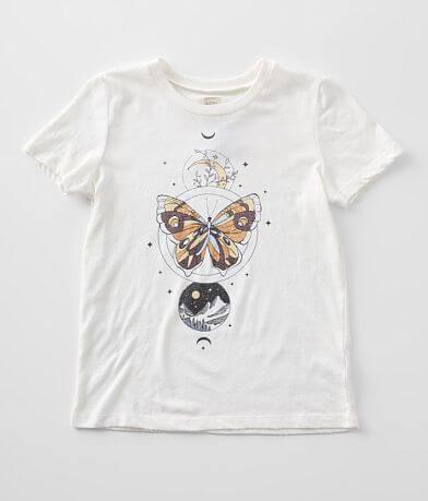 Girls - Modish Rebel Celestial Butterfly T-Shirt