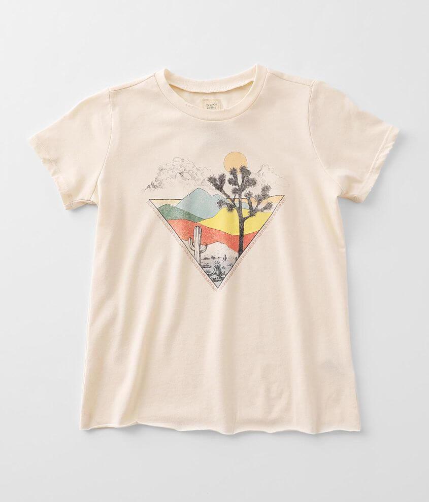Girls - Modish Rebel Desert Scene T-Shirt front view