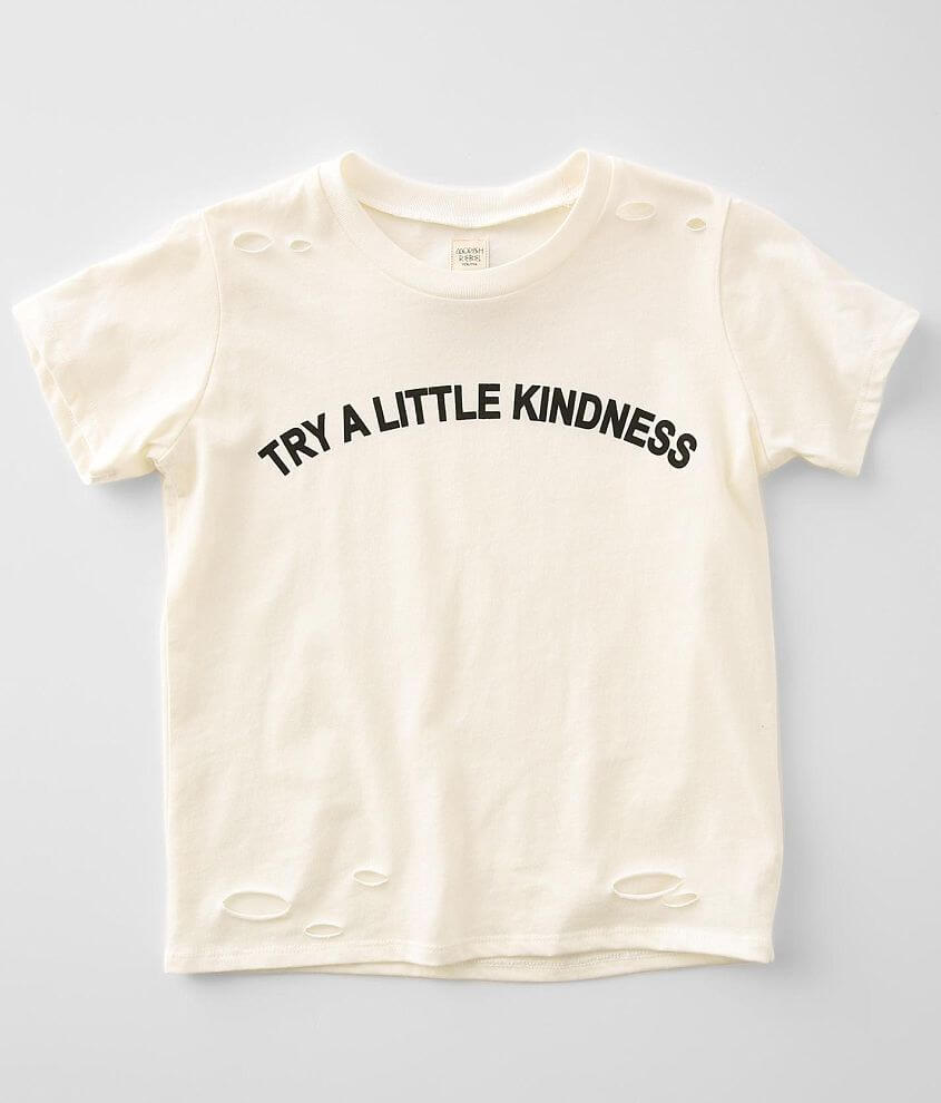 Girls - Modish Rebel Try Kindness T-Shirt front view