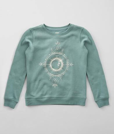 Girls - Modish Rebel Moon & Galaxy Sweatshirt