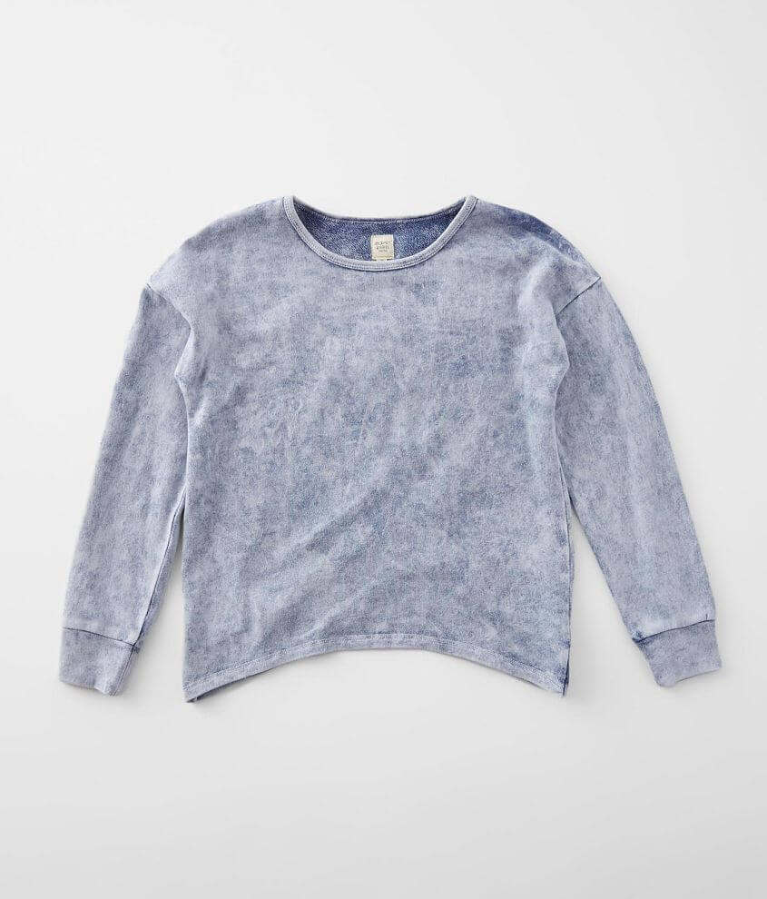 Girls - Modish Rebel Acid Washed Pullover front view