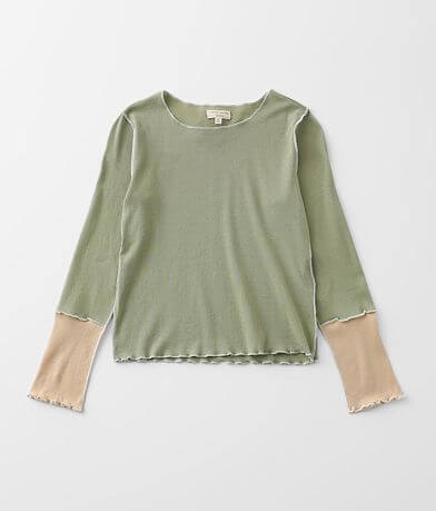 Girls - Gilded Intent Pieced Knit Top